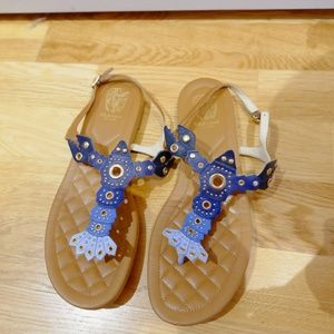 COLE HAAN PINCH BLUE LOBSTER SANDALS SHOES 7.5